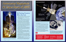 GP-B was selected as the #1 Space Story of 2007 by Astronomy Magazine.
