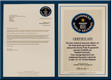 Letter and certificate from the Guinness World Records Company