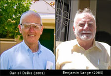 Photos of Daniel DeBra and Benjamin Lange (2005).