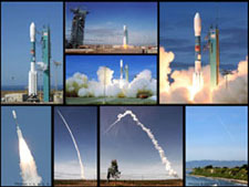 Collage of GP-B launch photos.