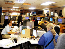 The GP-B Mission Operations Center was a beehive of activity during the post-science calibration phase.