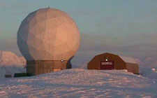 Svalbard ground tracking station in Spitsbergen, Norway.
