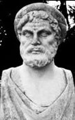 Sculptured bust of Archytas