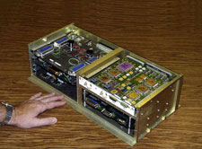 One of the SQUID Readout Electronics (SRE) boxes.