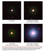 Photos of the GP-B guide star, IM Pegasi, and neighboring stars at which the GP-B spacecraft and telescope were pointed during instrument calibration tests.