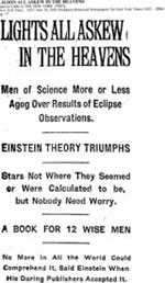 New York Times headline of November 10, 1919.
