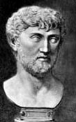 Sculptured bust of Lucretius