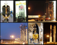 Collage of GP-B pre-launch photos.