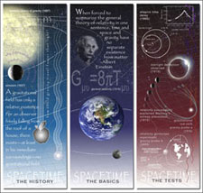 Spacetime Triptych Poster Panels—front sides.