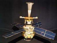 Paper model of the GP-B spacecraft.