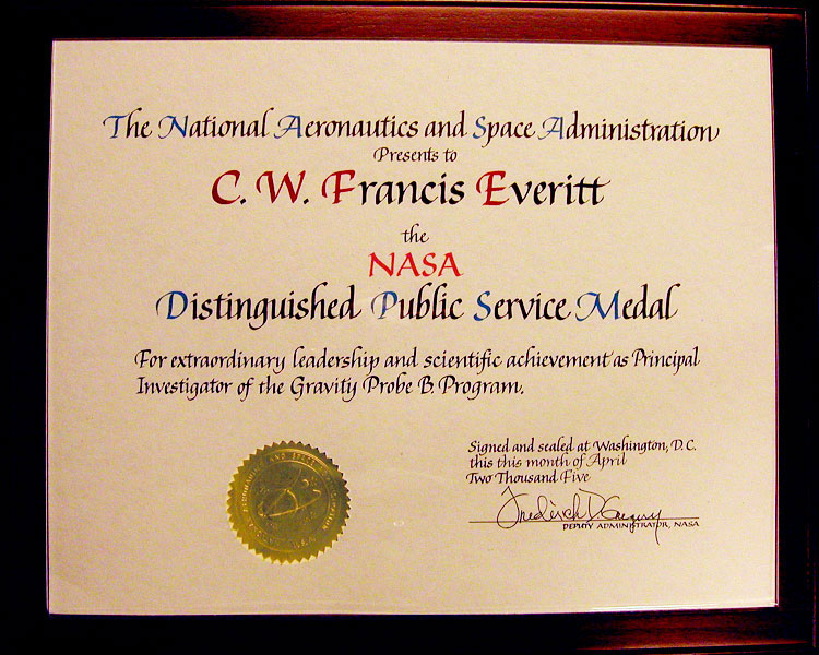 certificate with nasa - photo #15