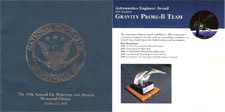 Awards booklet from the 19th annual Wernher von Braun Memorial Dinner of the National Space Club, Huntsville, AL chapter.